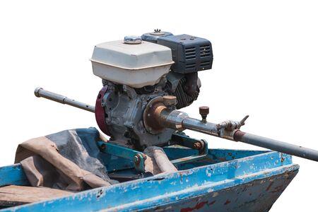 engine of motorboat Фото со стока