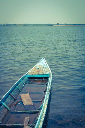 motorboat in river