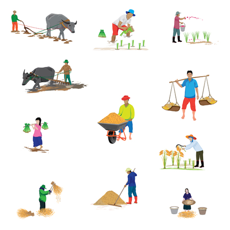 plow: farmer cartoon shape vector design