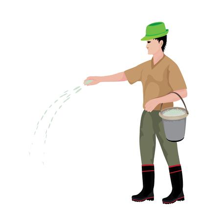 agriculturist cartoon shape vector design
