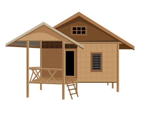 lovely hut vector design Illustration