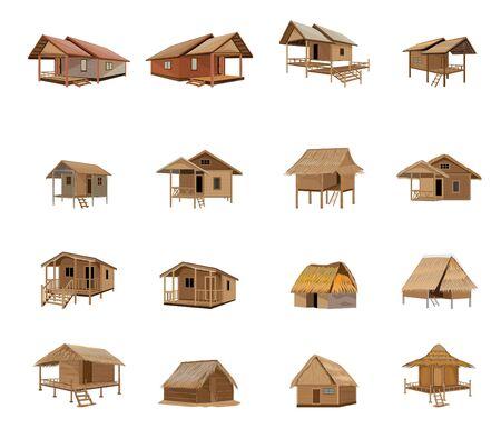 lovely hut vector design  イラスト・ベクター素材