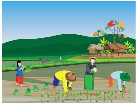 Lifestyle of farmer vector design Illustration