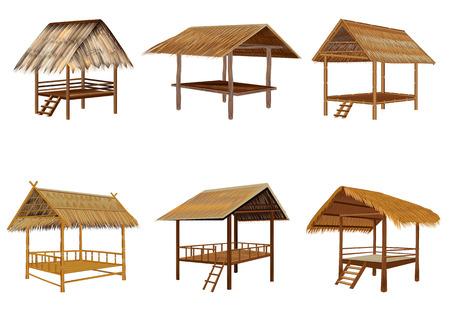 isolate grass hut vector design Illustration