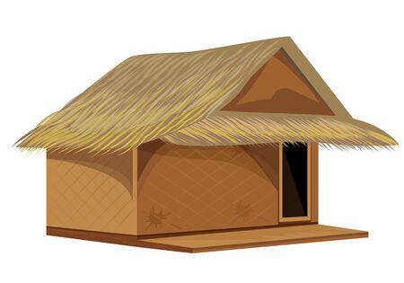 isolate grass hut vector design Ilustração
