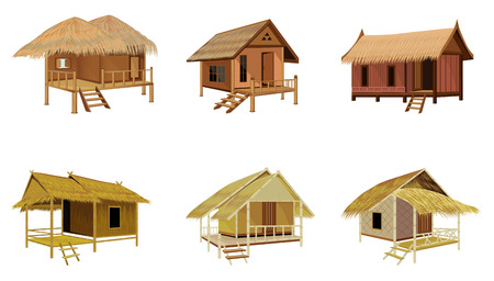 isolated straw hut vector design
