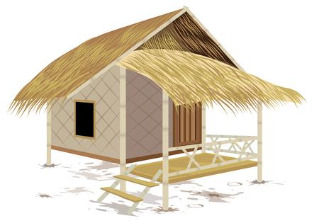 grass hut vector design Çizim