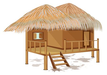 grass hut vector design 일러스트
