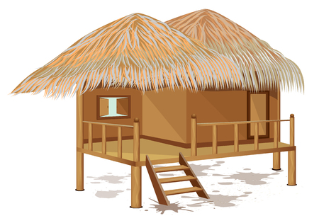 grass hut vector design Vettoriali