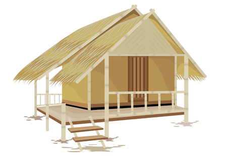 grass hut vector design Illustration