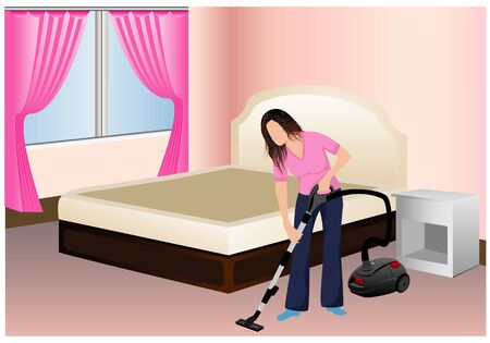 Lovely Lady Mop On Floor Vector Design Royalty Free Cliparts ...