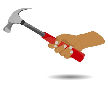 Hand with hammer vector design