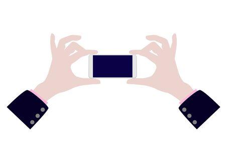 Take a photo by mobile vector design Vectores