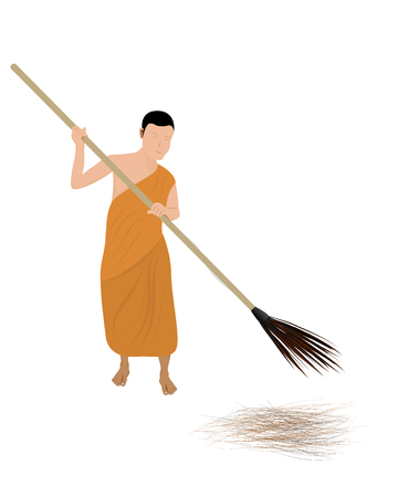 The novice sweep garbage vector design