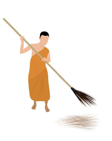 The novice sweep garbage vector design