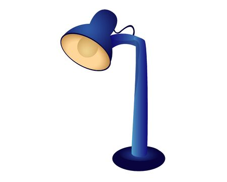 Table lamp vector design Illustration