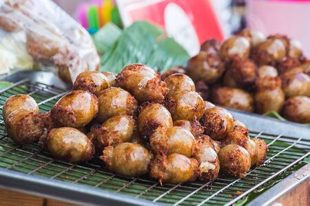 grill: fried Sausage the food of the Northeast in Thailand