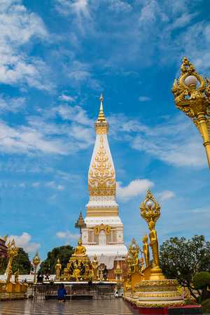 The pagoda in thailand call Phra That Pranmom