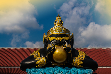 The Rahu statue in thailand