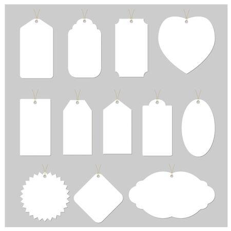 Witboek label label vector ontwerp