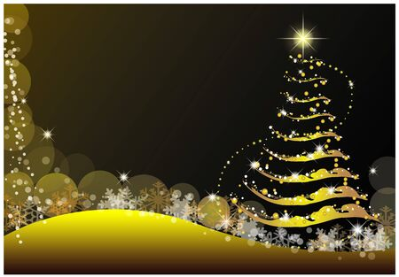 merry Christmas and happy new year background vector design