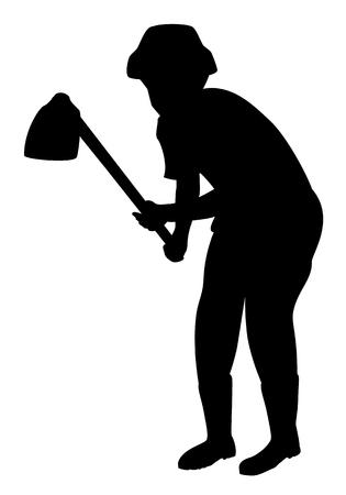 silhouette cartoon shape vector design Vettoriali