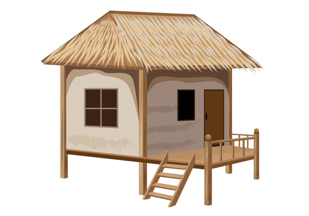 straw hut vector design Banque d'images - 105453743
