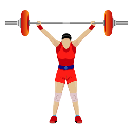 weight lifting cartoon shape design