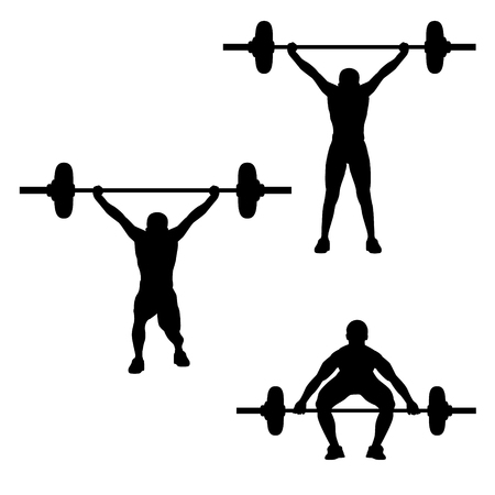 silhouette weight lifting design
