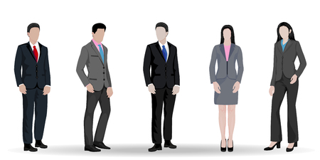 business man and woman design