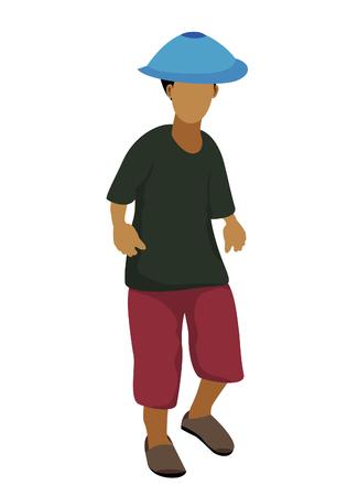 farmer cartoon shape vector design