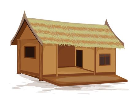 conception de vecteur de hutte de paille Vecteurs