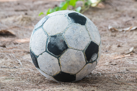 old football on floor background Banco de Imagens