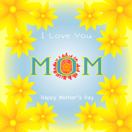 beautiful card for mothers day vector design