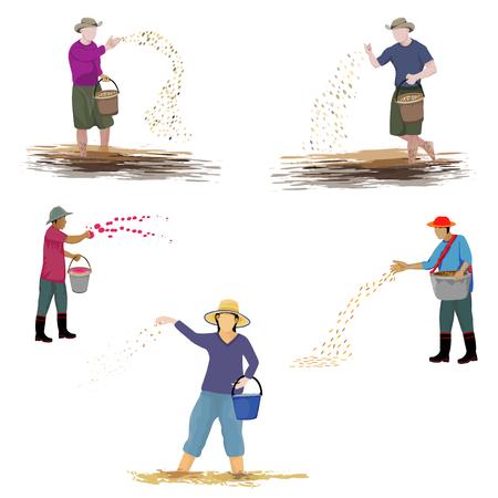 conception de vecteur de forme de dessin animé fermier