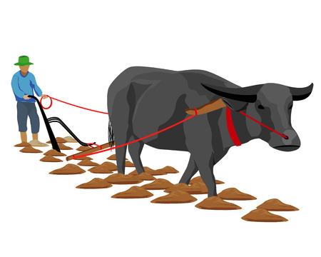 farmer plow vector design Иллюстрация
