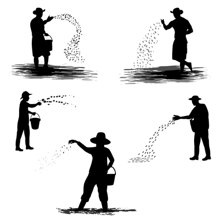 conception de vecteur de forme fermier silhouette