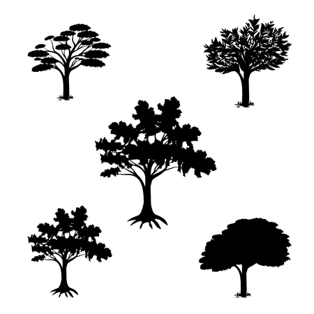 silhouette tree vector design