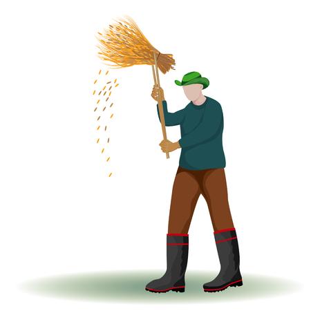 the farmer shape vector design