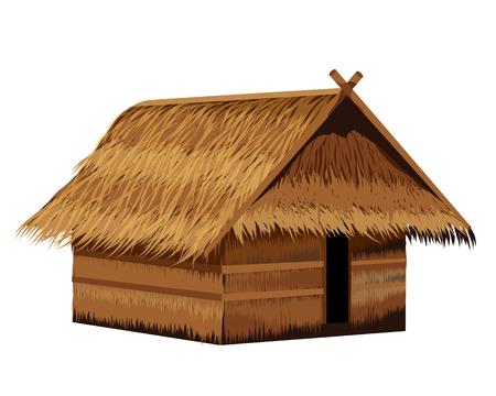 projekt wektor słomy chaty
