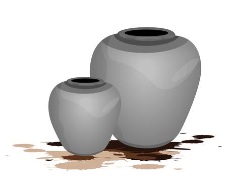 old jar vector design Ilustrace