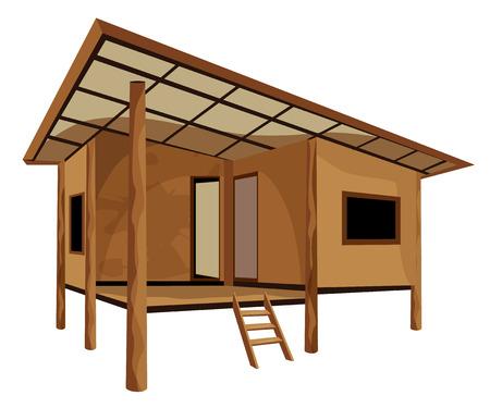wood home vector design