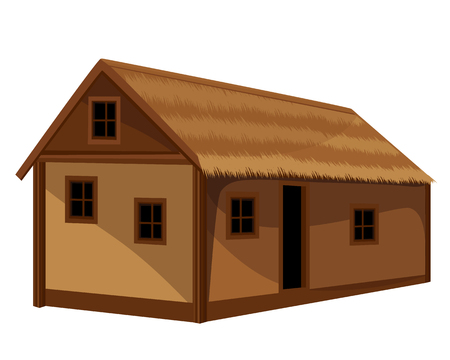 conception de vecteur de hutte de paille