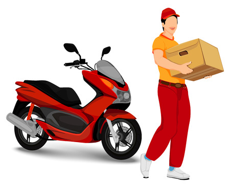 the cartoon delivery vector design Illustration