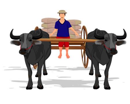 farmer freight parcel vector design Illustration