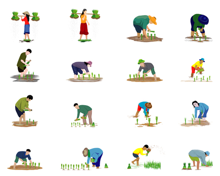 farmer cartoon shape vector design