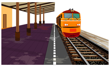 the train vector design
