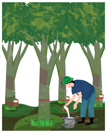 Landwirt Ernte Gummi Wasser Vektor Design Vektorgrafik