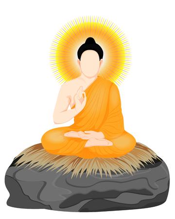het Boeddha-meditatie vectorontwerp