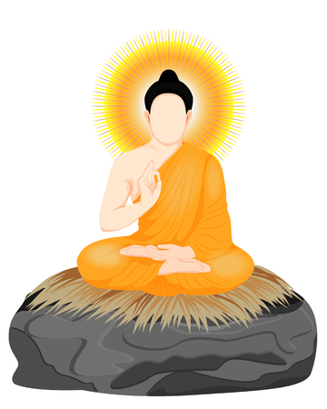 the Buddha meditation vector design